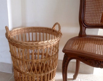 Great high basket Wicker basketry French