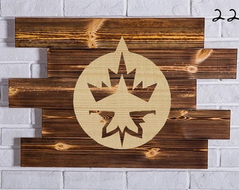 Winnipeg Jets Wood Sign Winnipeg Jets Wall art Winnipeg Jets Gift Winnipeg Jets Birthday Winnipeg Jets Party wooden