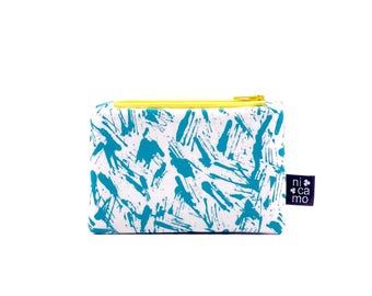 Wallet with abstract print