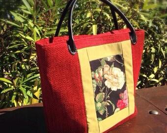 handmade roses bag