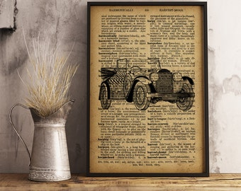 automobile print clic car vintage car poster mechanic gift home decor men s office