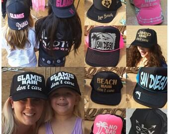 Custom Designed Hat, Custom Trucker Hat, Design Your Own Logo Tucker Hat or Baseball Hat