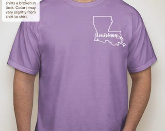"Louisiana ""Home is where the heart is"" t-shirt"