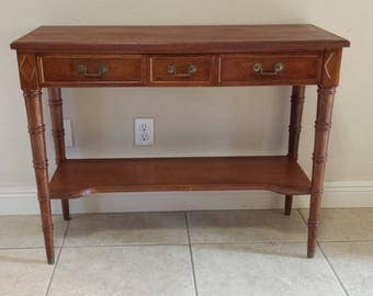 Faux Bamboo Solid wood foyer table made by Bodart Furniture