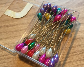 Large dress making, quilting and bag making pins. 2 inches long, approx 50 per case.