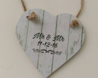 Mr & Mr,  personalised wedding gift, personalised anniversary gift, gay wedding, gay marriage, same sex wedding gift, keepsake gift, love