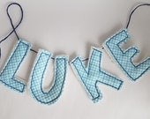 Fabric Letter Banner - Highchair Banner - Handmade Party Decor - Custom Name Sign - Fabric Alphabet - Montessori Toys - Traditional Decor