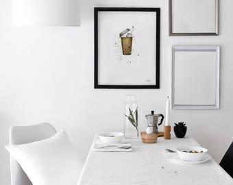 Tea, tea illustration, home decor, wall art, wall prints, kitchen prints, kitchen decor, cafe decor, food illustration
