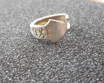 Sterling silver spoon ring. size 4 1/2 - 4 3/4