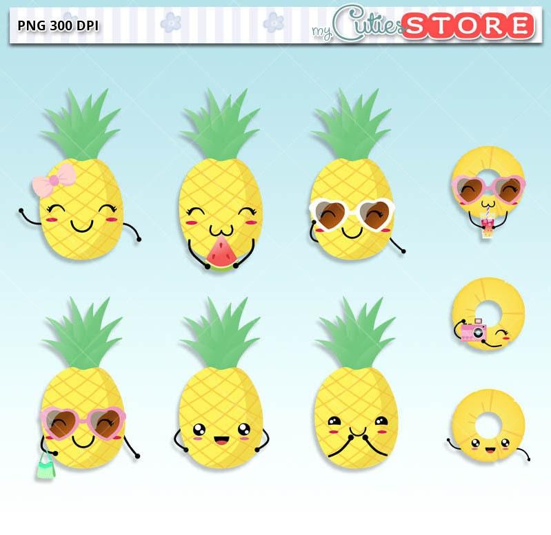 darling pineapple kawaii clipart  cute doodle digital sunglasses clip art no background sunglasses clip art free images