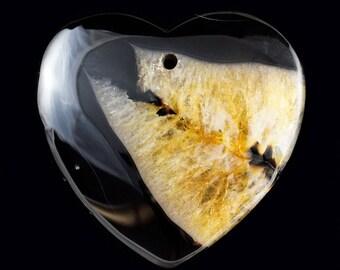 Amazing Heart-shaped Agate pendant (101)