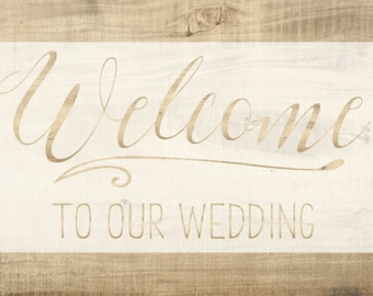Wedding Welcome STENCIL // Wedding Stencil // Event Stencil