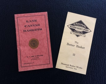 2 early basket catalogs