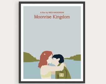 MOONRISE KINGDOM, Suzy & Sam, Wes Anderson, Movie Poster Art.