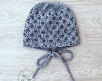 Newborn Baby Hand Knitted Bonnet. Photo prop. Newborn props. Classic bonnet. Newborn gifts.