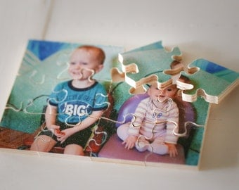 """Personalized Wood Puzzle!(11""""x14"""" with 12 pieces) Hand-crafted Personalized Puzzle for kids, Wood photo Puzzle Personalized"""