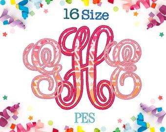 16 Sizes Vine Applique Monogram Embroidery Font PES Embroidery Machine,Embroidery Font,Monogram Font,Monogram Initials,Vine Font Monogram