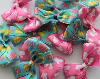 Handmade Bow Hair Clips- Easter Collection