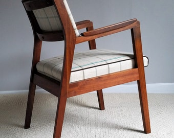 Restored Walnut Chair Pair - Comfort and Style