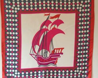 Ship and sea scarf