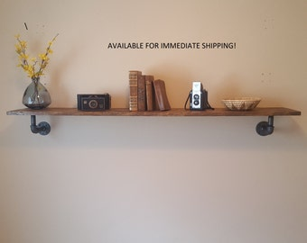 AVAILABLE for IMMEDIATE SHIPPING! Industrial Pipe Shelf