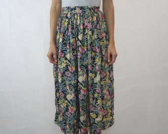 VINTAGE Fellini Floral 80's Skirt Size XS (8)