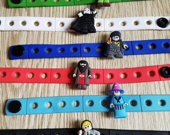 10  School Of Magic Silicone Bracelets Party Favors