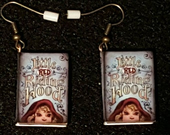 Little Red Riding Hood Book Earrings