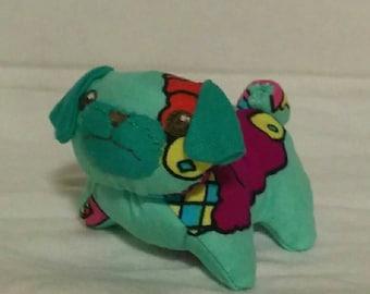 Tiny Turquoise Ice Cream Teal Grumpy Pug
