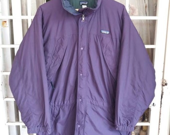 Vintage Patagonia pullover with hooded/purple/Large/hiking/outdoor/sportwear/streetwear