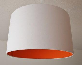 "Lampshade ""Orange-white"""