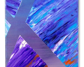 Acrylic - Oasis - 20x10 inch - ABSTRACT PAINTING