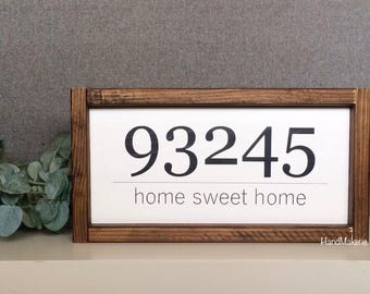 Home sweet Home zip code | painted frame