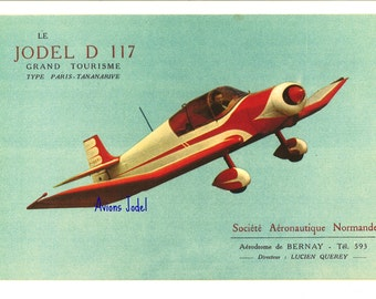 Reproduction vintage JODEL D117 GRAND TOURISM advertising