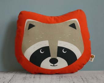 Small pillow RACCOON bio