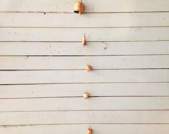 Spring Porch Decor Handmade Wind Chime Rustic Boho Bells Iron Copper Chimes 5th Anniversary