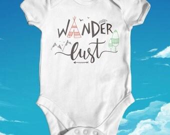 Wander Lust Baby Bodysuit | Funny Baby Bodysuit | Cute Baby Clothes | Boho Baby | Baby Adventure Bodysuit | Explore Bodysuit