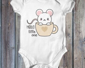 Hello Little One Baby Bodysuit | Baby Shower Gift | Cute Baby Bodysuit | Boho Baby Clothes | Animal Baby Bodysuit | Funny Baby Bodysuit