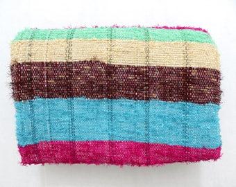 Handmade Hand woven Chindi Area Rugs Rectangular Carpet Durrie Recycled Bohemian Beach Garden Yoga Mat Indian Floor Kilim Counterpane I627