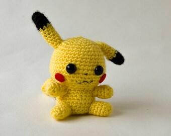 Amigurumi Pikachu Amiibo, Pikachu amiibo, Pokemon amiibo, nintendo amiibo, Pikachu plush, pokemon plush, amigurumi pikachu, custom amiibo