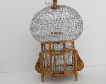 Amasing hamdcrafted olive wood bird cage