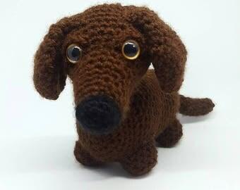 Handmade dachsund sausage dog plushie doll