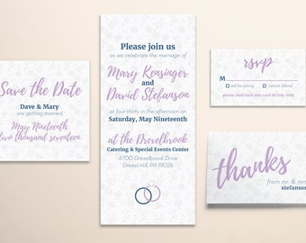 Custom Wedding Invitation Stationery Suite (PDF with Printing Rights)
