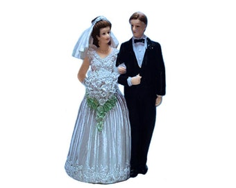 "Wedding cake topper couple 6"" - Novios para pastel 6"""