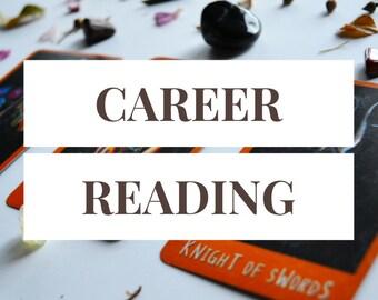 Career Reading -- 3 Card Tarot Reading + 1 Follow-Up Card -- Photo of Spread Included