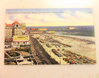 Vintage Postcard Atlantic City NJ Boardwalk Steel Pier