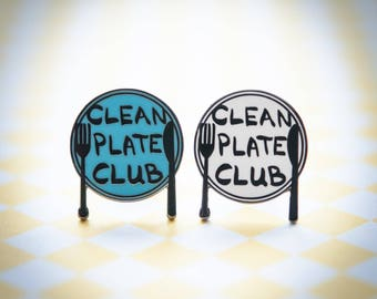 Clean Plate Club - Hard Enamel Lapel Pin | hat pin, food, hat pins, brooch, culinary, foodie, dining, flair