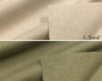 Cotton Blend Interlock Knit Fabric (Wholesale Price Available By The Bolt) USA Made Premium Quality - 7247 - 1 Yard