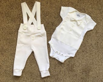Baby Boy Blessing Outfit, Blessing Outfit, Christening Outfit, Christening Suit, White Suit, Baby Christening, White Tuxedo, Summer Outfit