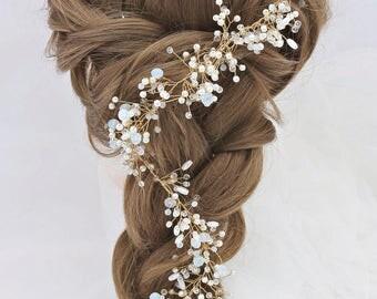 Bridal Hair vine hair wreath Crystal Headband Hair Accessories Gold Accessory hair piece wedding hair piece hair piece gold vine bridal hair